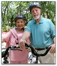 Senior bicyclists